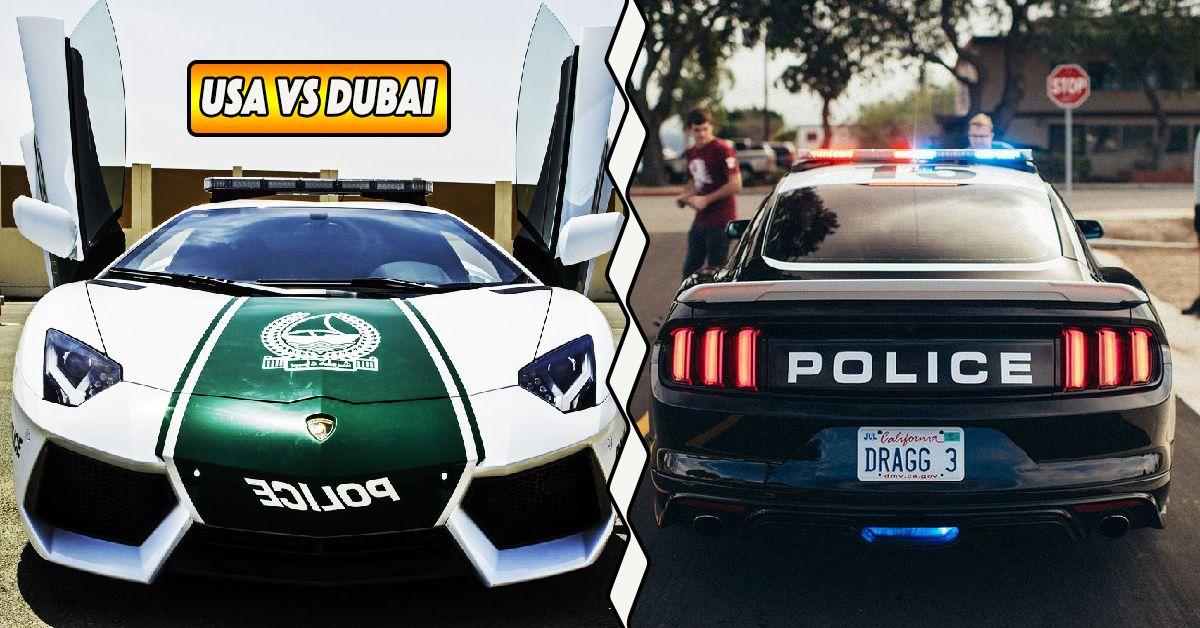 Us Vs Dubai 16 Pics Of The Most Powerful Police Cars Hotcars