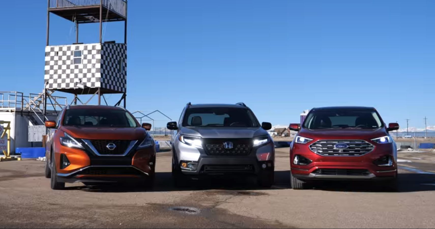 Honda Passport Ford Edge Nissan Murano Race For Crossover Supremacy