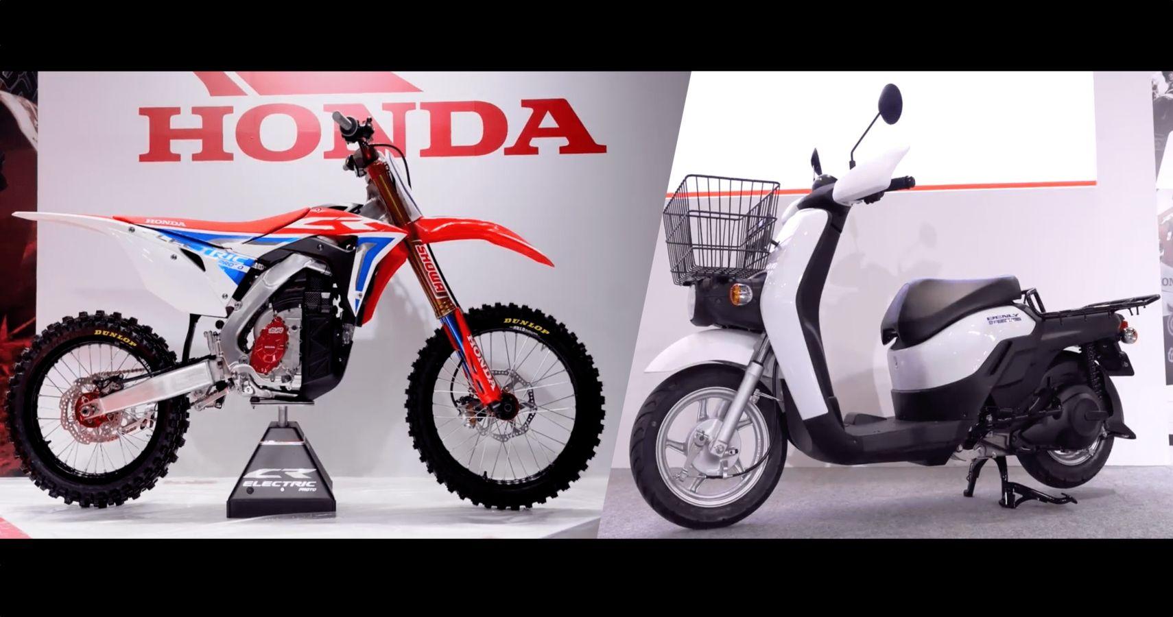 Honda Reveals Electric CRF450 Dirt Bike & Electric Scooter