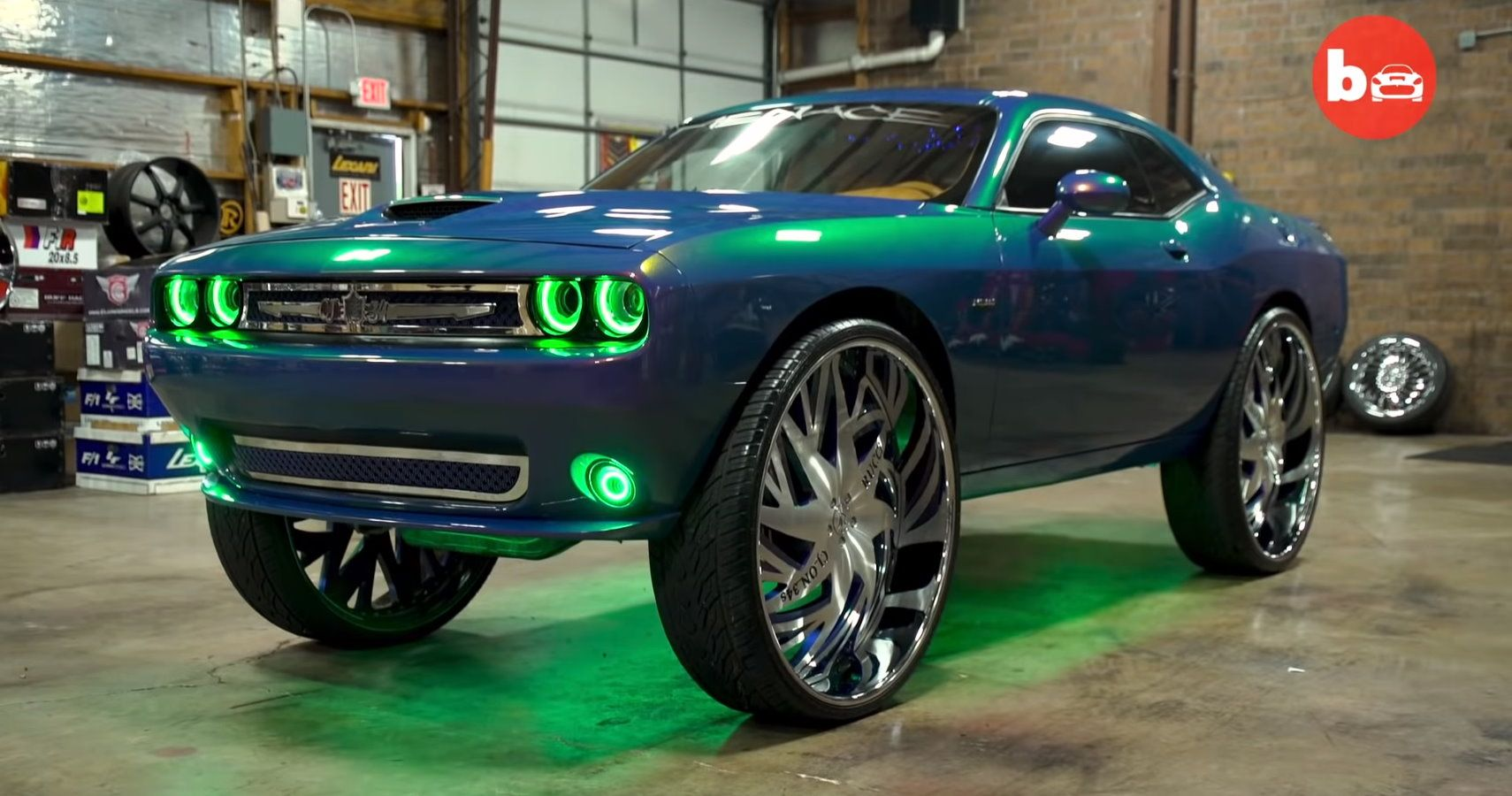 Ridiculous Dodge Challenger Has Massive 34-Inch Rims And ...