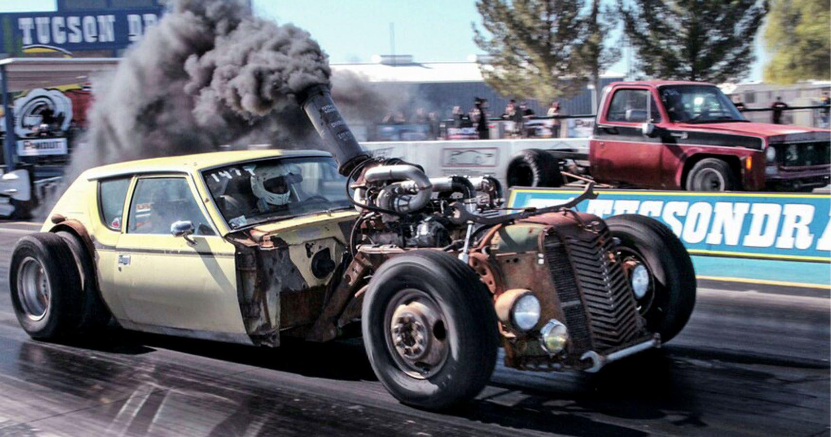 Crazy Diesel Gremlin Rat Rod Hits The Drag Strip Hotcars