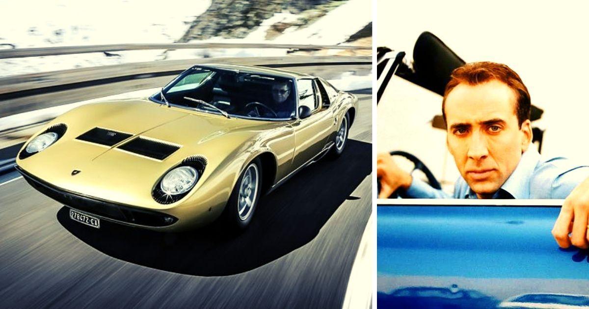 Here's Why Nic Cage Bought A $500,000 Lamborghini Miura