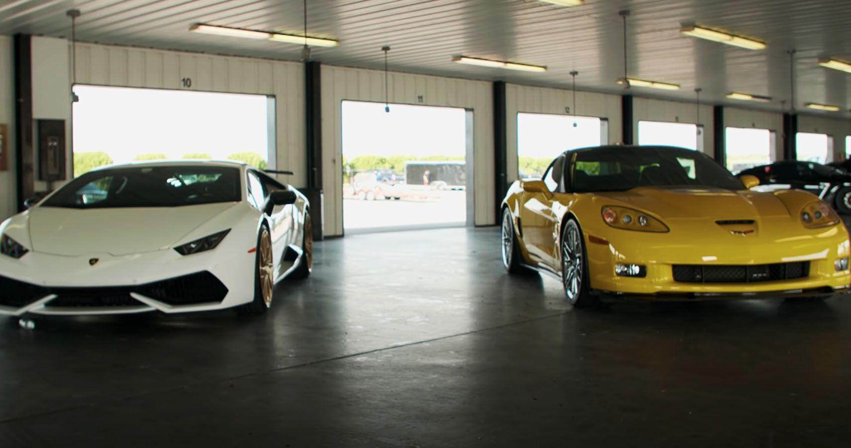 Watch A C6 Corvette ZR1 Race A Lamborghini Huracan LP610-4