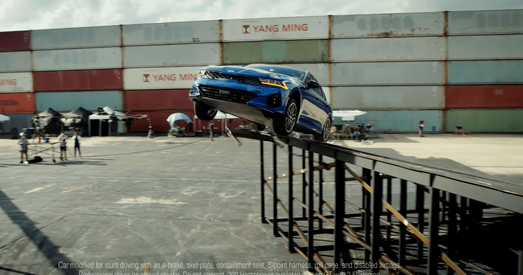 Watch Kia Complete An Impossible Stunt In The New K5 GT!