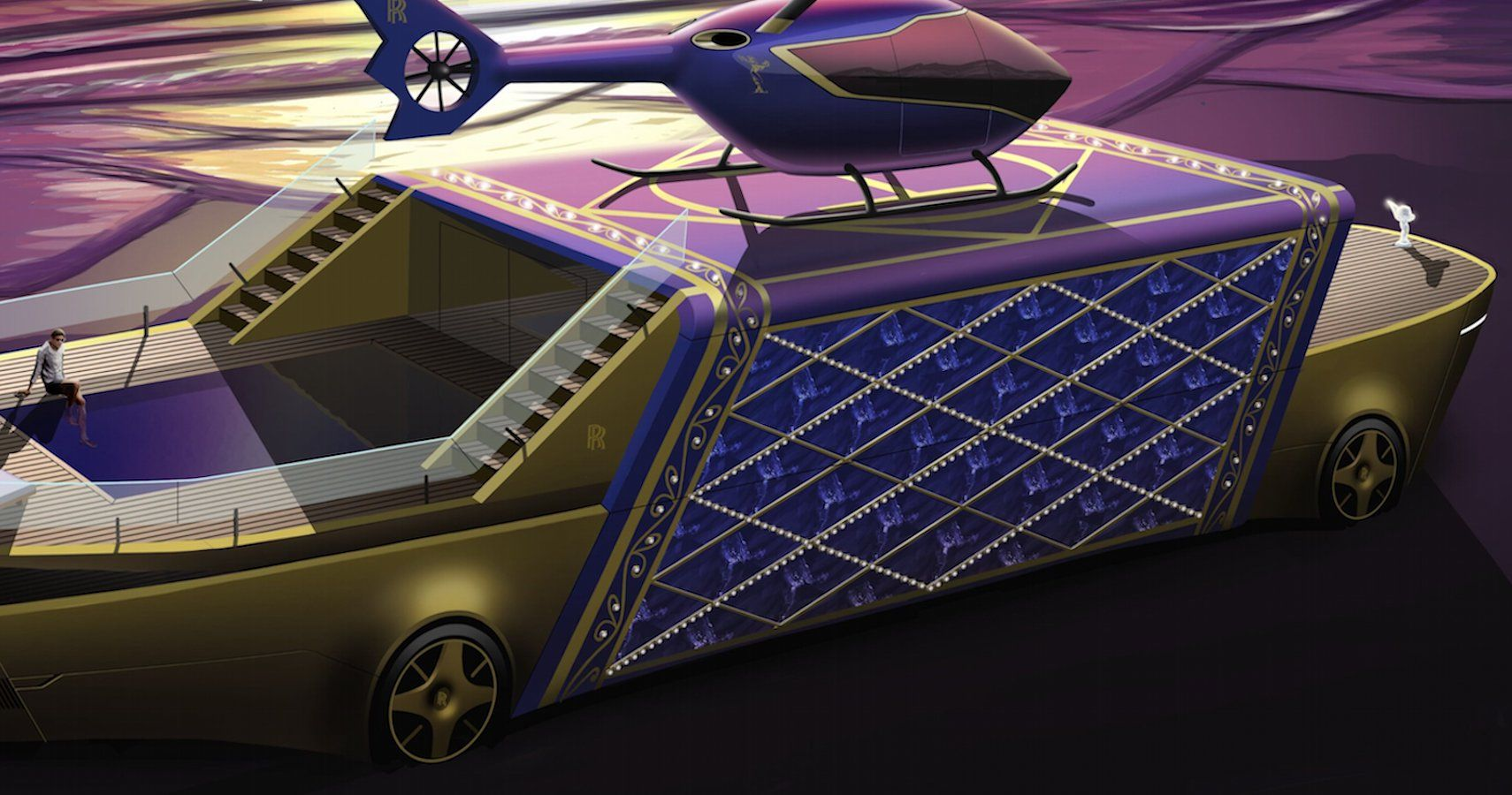 Rolls-Royce Awards 9-Year-Old For Designing This Extravagent Land Yacht