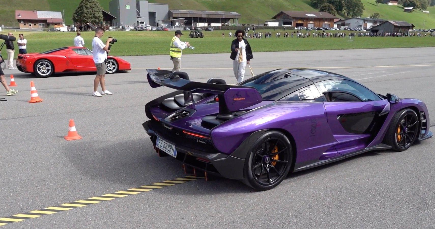 Supercar Battle Royale: Ferrari Enzo Vs McLaren Senna Vs Ferrari LaFerrari Drag Race