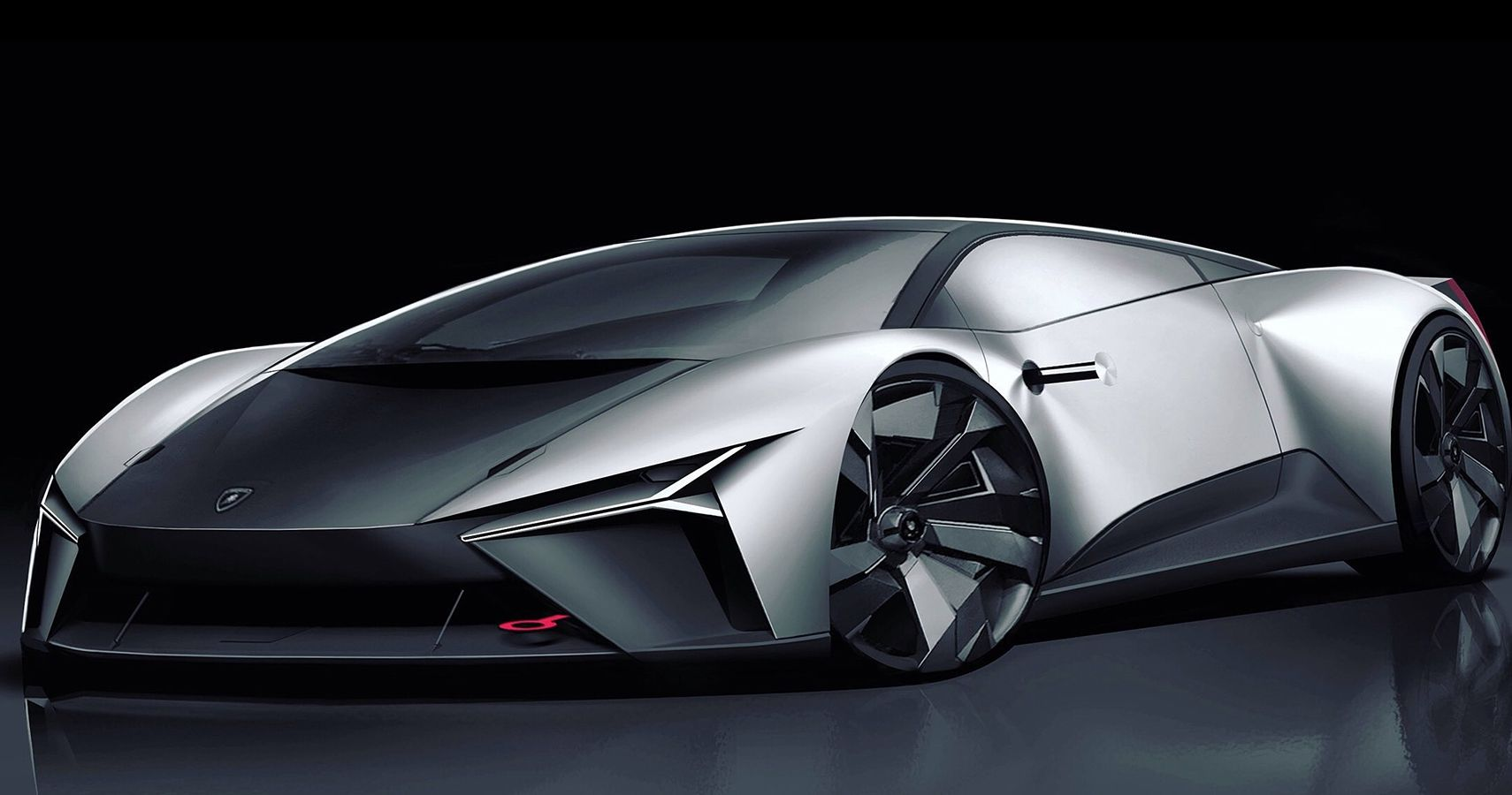 This Is How An All-Electric Lamborghini Might Look Like, According To Car Designer's Renders