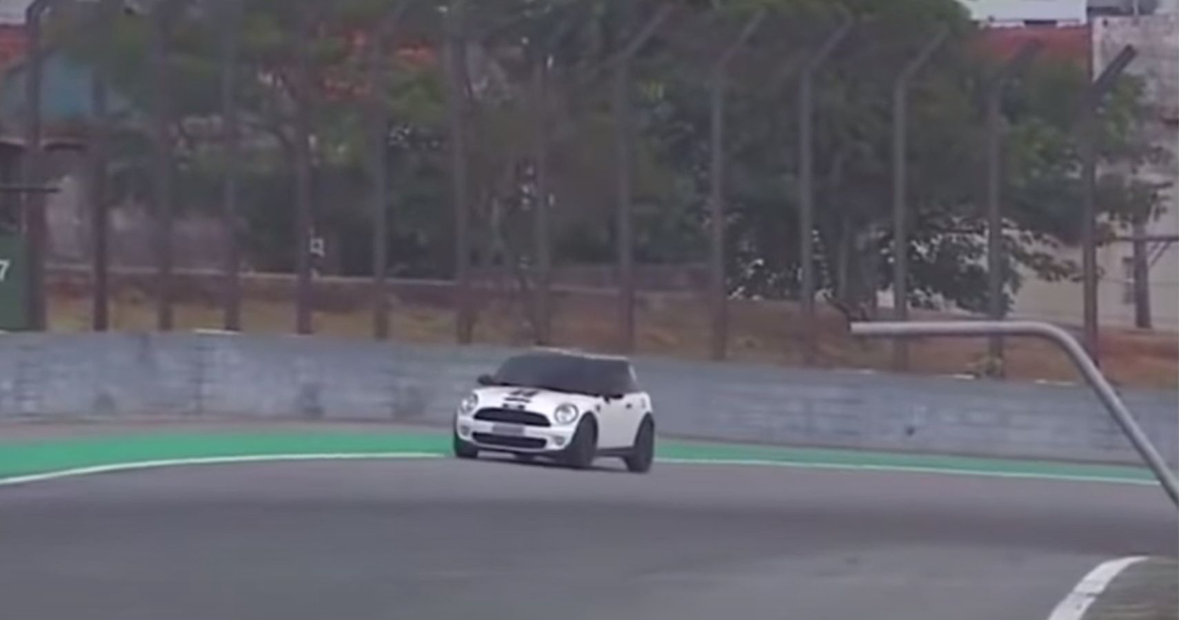 Watch This Mini Cooper Accidentally Drive Onto The Wrong Track During Interlagos Race