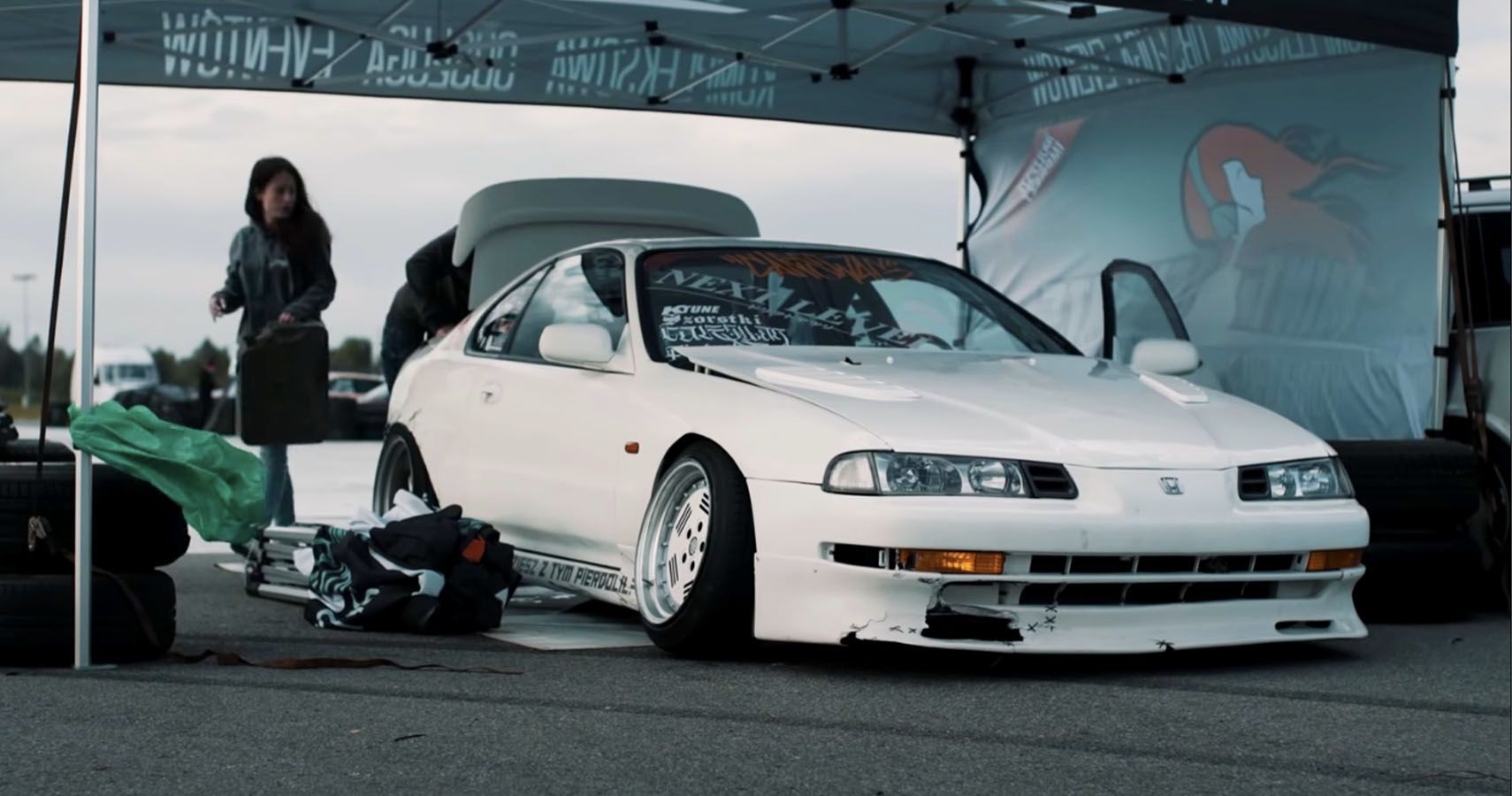 Watch This RWD Mercedes-Swapped Honda Prelude Go Drifting