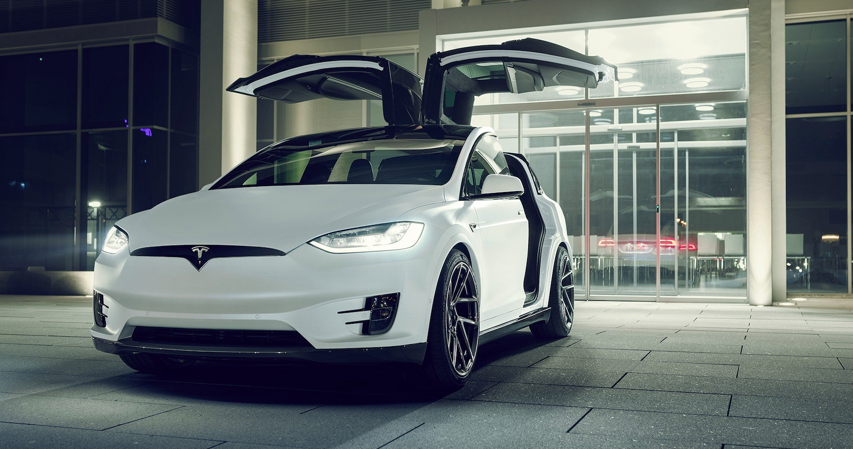 Tesla Model X By Novitec Has Hi-Tech King-Sized Position-Specific Wheels