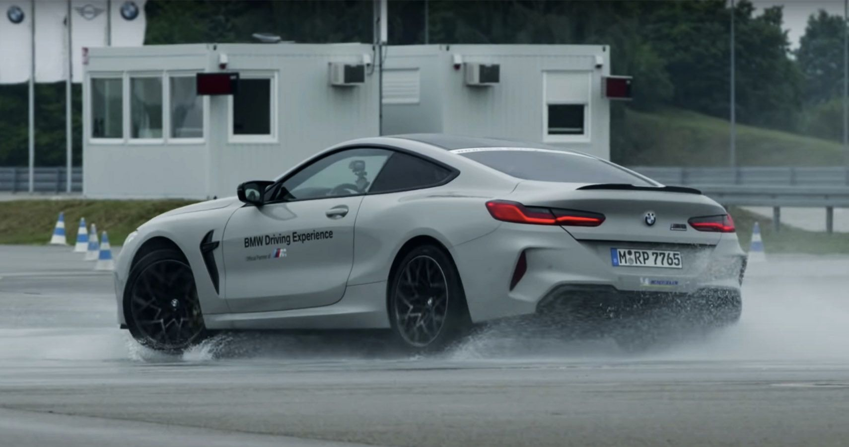 BMW Takes The M8 Competition Out For Rainy Day Drifting Fun