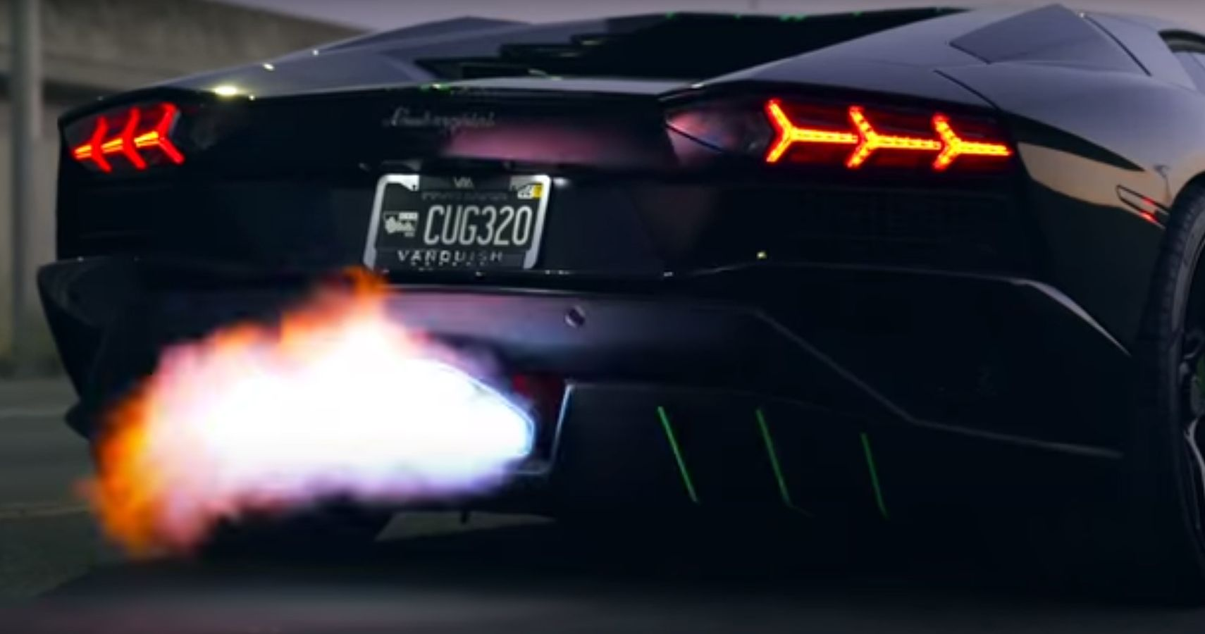 Watch This Lamborghini Aventador S Turn Up The Heat With Flame Spitting Exhaust