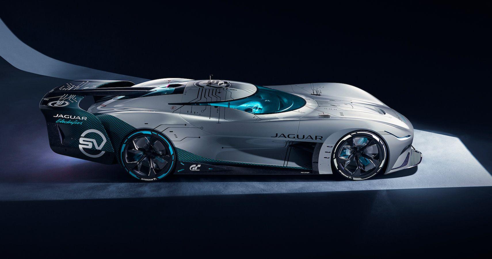 Elegant Jaguar Vision GT SV Is A Virtual Race Car Developed for Gran Turismo