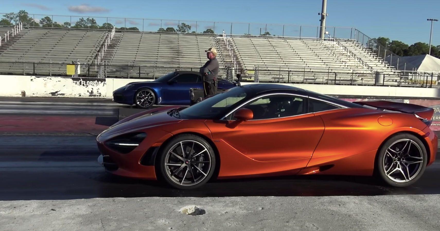Watch A Tuned Porsche Turbo S Challenge A McLaren 720S At The Strip
