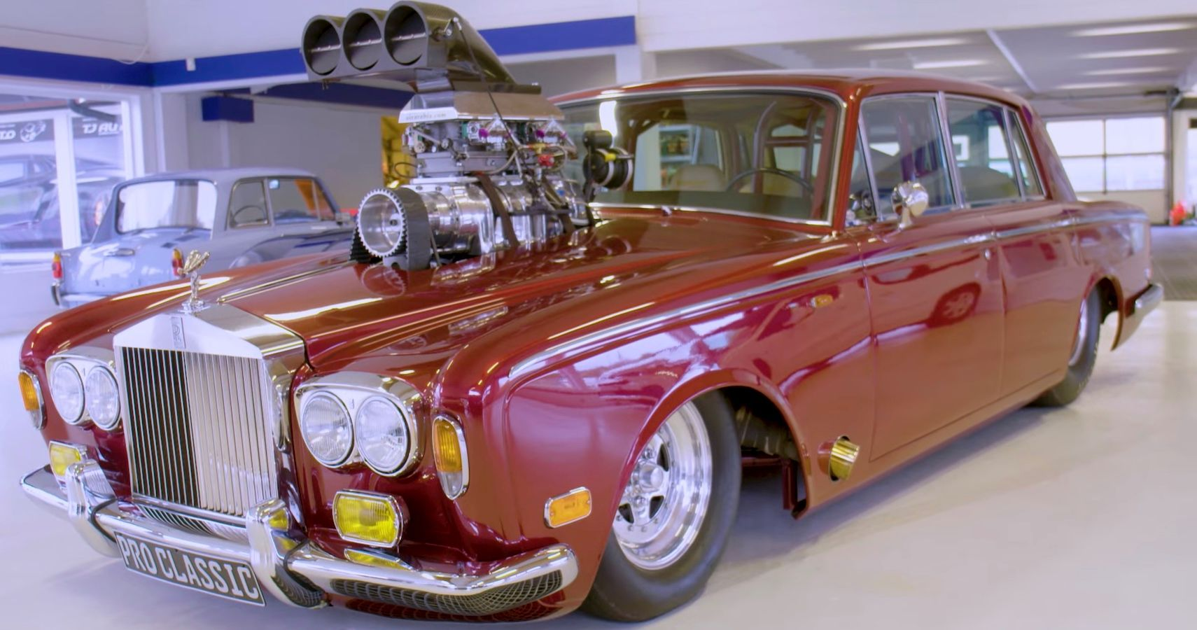 This Noisy Rolls-Royce Silver Shadow Is A Savage Dragster