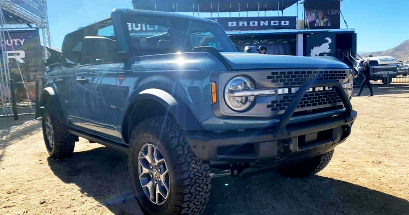 2021 bronco four-door badlands with soft top spotted at