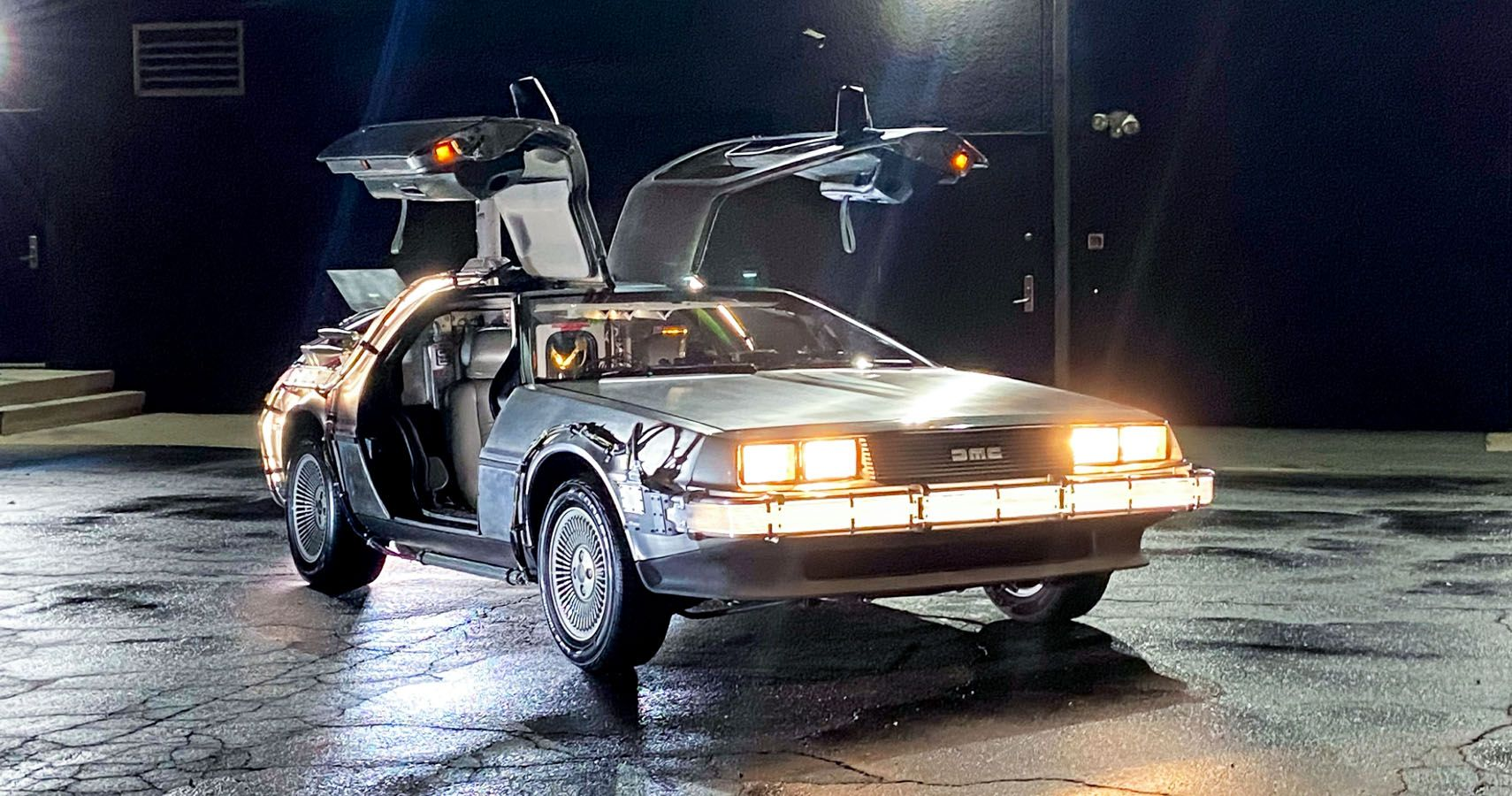 Custom-Built 'Back To The Future' DeLorean Using Original Movie Parts Headed To Auction