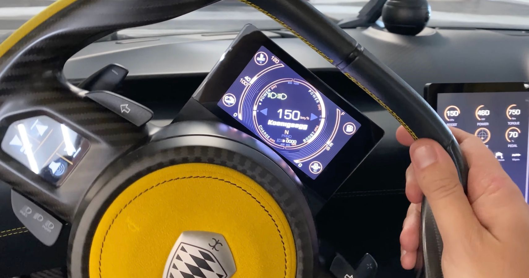 Watch The Koenigsegg Gemera's Really Cool Cluster Screen Adapt To Every Turn