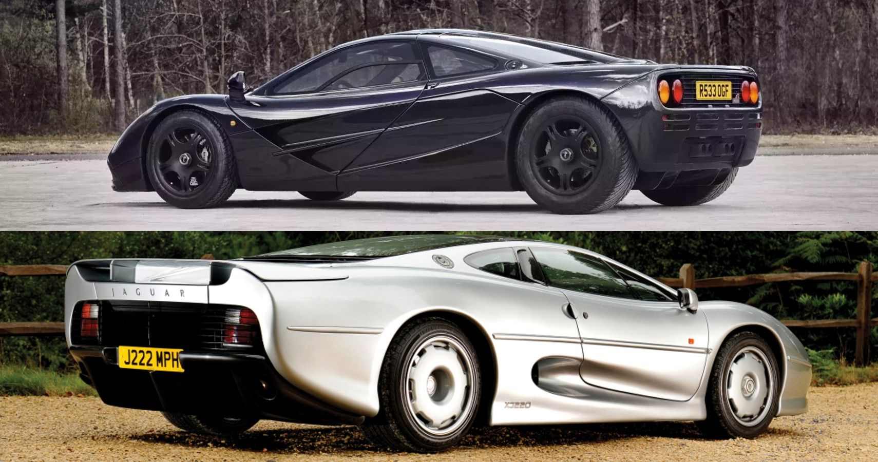 Jaguar XJ220 Vs. McLaren F1: The Forgotten Hypercar Battle Of The 1990s