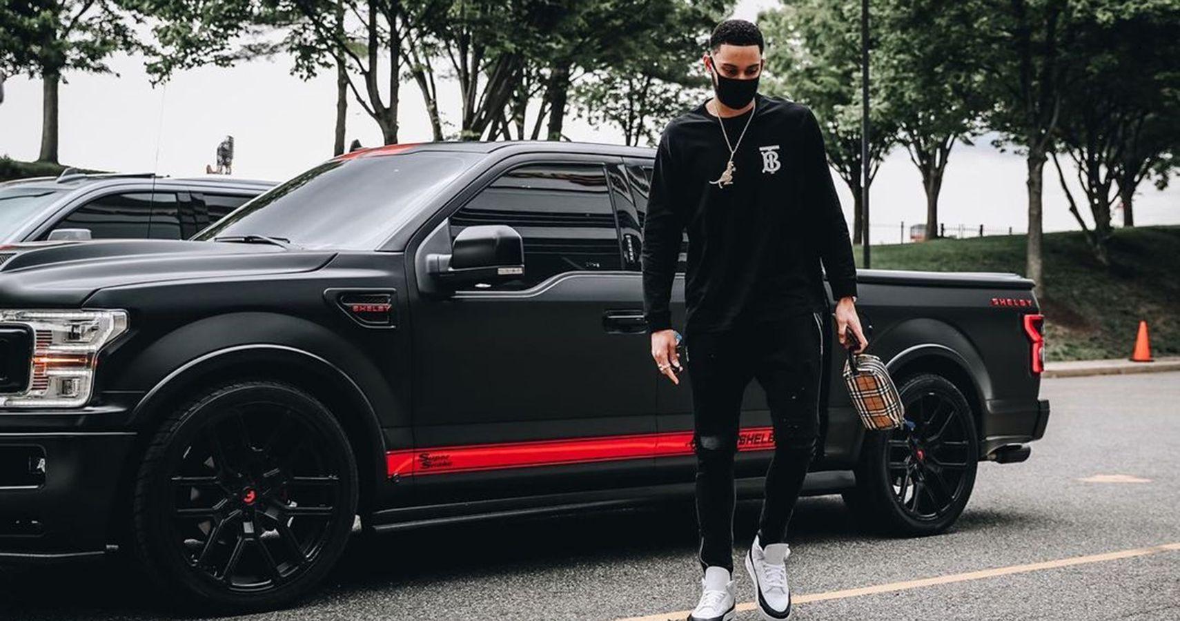 NBA Star Ben Simmons Flaunts A Stunning Black Shelby F-150 Super Snake