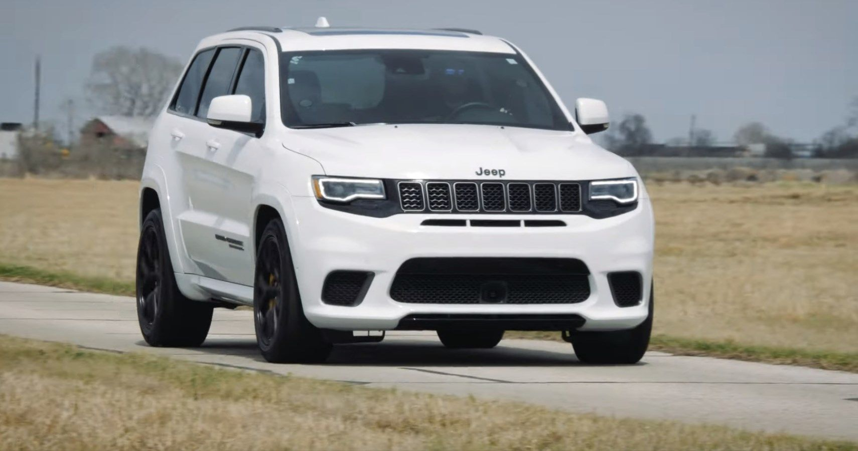 Hennessey Flexes Its 900-HP Jeep Trackhawk Upgrade During Test Drive
