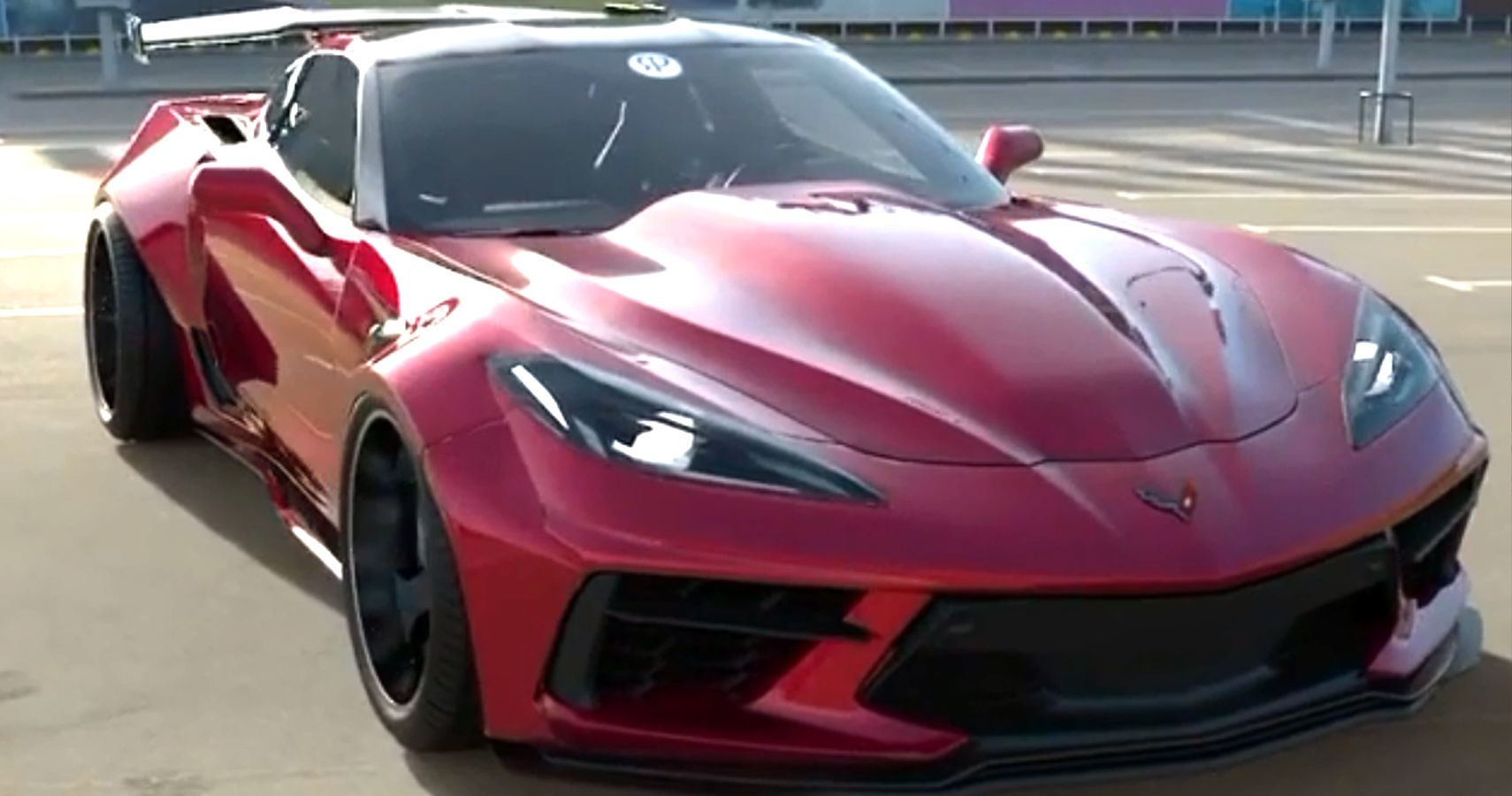 This C8 Corvette Pulls Off The Front-Engined Look With Ease