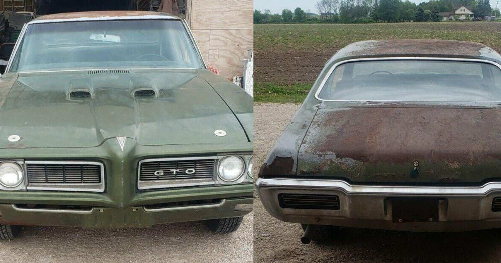 No Driver-Side Door? No Problem: 1968 Pontiac GTO Is Still A Great Barn Find