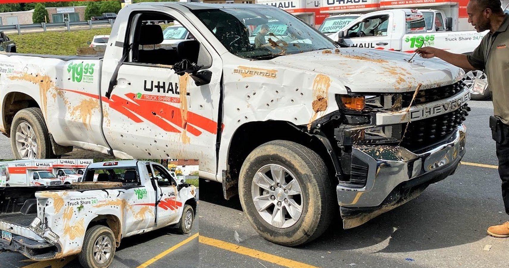 YouTuber Tries To Return Destroyed U-Haul Pickup Truck   HotCars